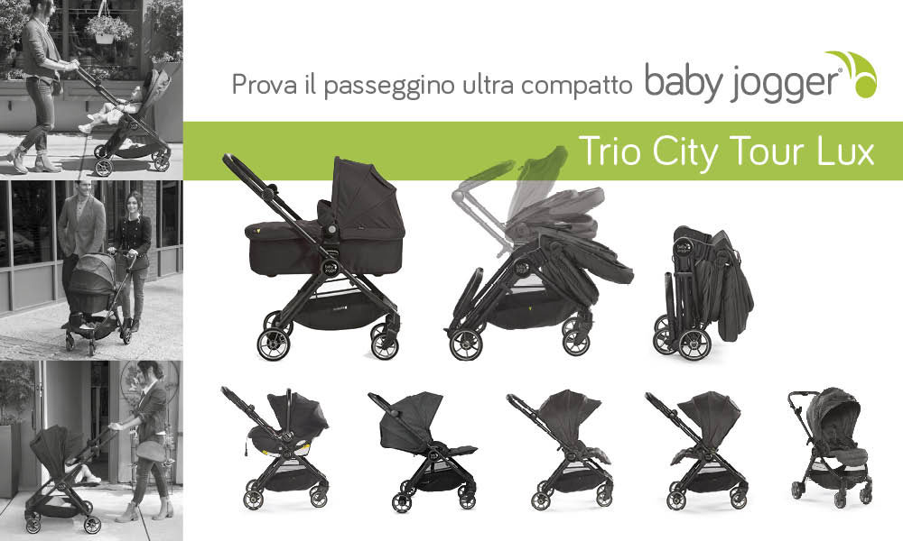 Trio Passeggino Baby Jogger City Tour Lux
