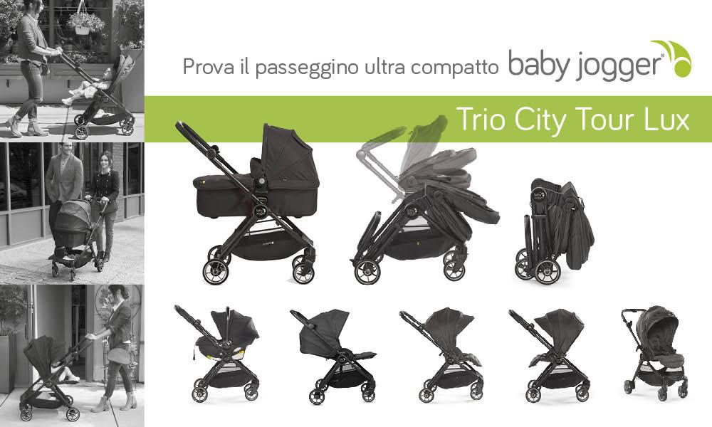 Trio Passeggino Baby Jogger City Tour Lux