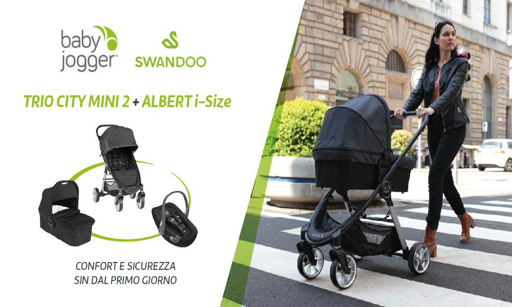 2 trio City Mini2 4 ruote Baby Jogger da testare