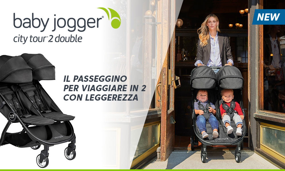 2 passeggini Baby Jogger City Tour2 Double da testare