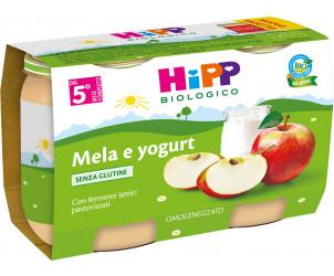 Merenda di Frutta Mela e yogurt