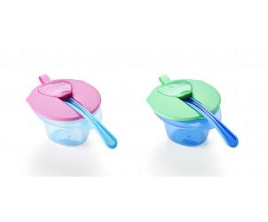 Ciotole svezzamento con coperchio e cucchiaio