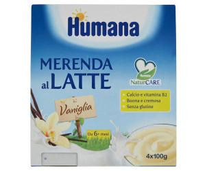 Merenda al latte con vaniglia