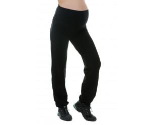 Pantaloni premaman da fitness con fascia nera