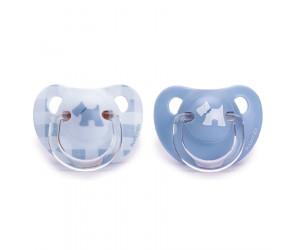 Succhietto Evolution Anatomico Lattice 0-6m Collezione Rosa & Blu