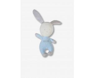Doudou coniglietto blu a pois