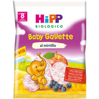 Baby Snack Gallette di Riso al Mirtillo