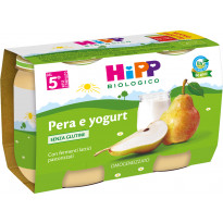Merenda di Frutta Pera e yogurt