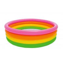 Piscina gonfiabile 4 anelli arcobaleno